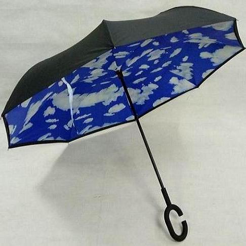 现货汽车反向伞定制双层c型免持式雨伞反撑伞创意倒伞一件代批发