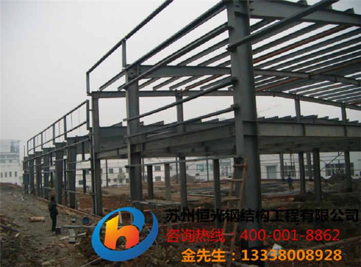 苏州钢构楼梯,钢结构房子施工
