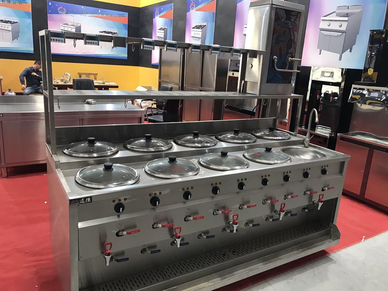 水饺炉、煮面炉、馄饨炉、山东迈德商用厨具有限公司制造