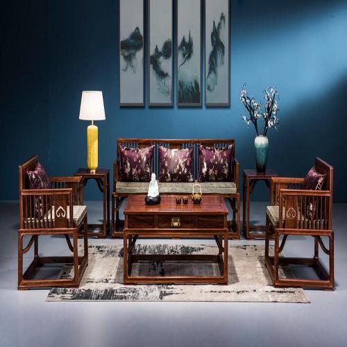 红木实木沙发厂家直销 新中式红木沙发哪个牌子好 佛山市顺德区直觉家居有限公司