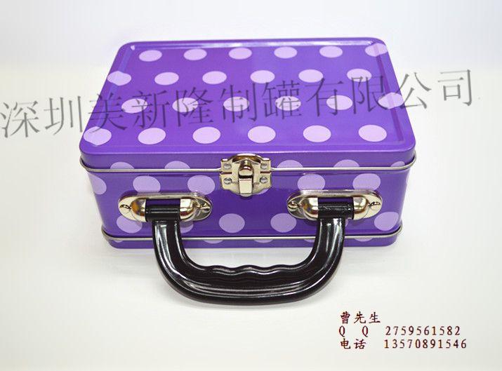 美新隆供应手挽罐、午餐盒、化妆品铁盒、珍珠粉铁盒、面膜铁盒、化妆刷铁盒、HelloKitty铁盒