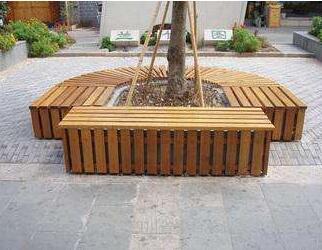 苍南景区防腐木花箱设计、防腐木座椅花箱