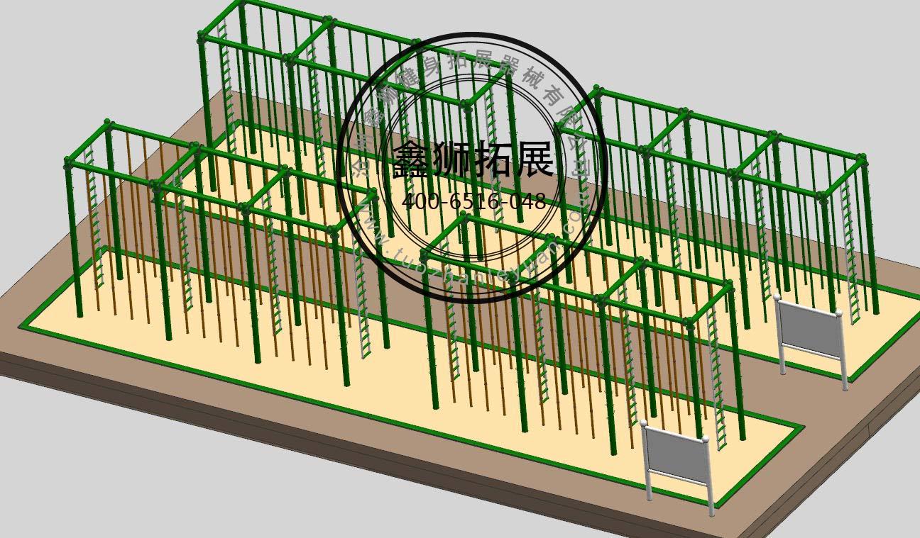 爬杆爬绳训练架沧州鑫狮软梯训练器材厂家直销质优价廉拓展拓展器械