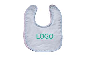 批发定制宝宝口水巾 婴儿口水兜 婴儿围嘴 儿童饭兜刺绣LOGO