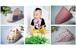 深圳厂家批发儿童三角巾婴儿口水巾头巾围兜纯棉纱布多色