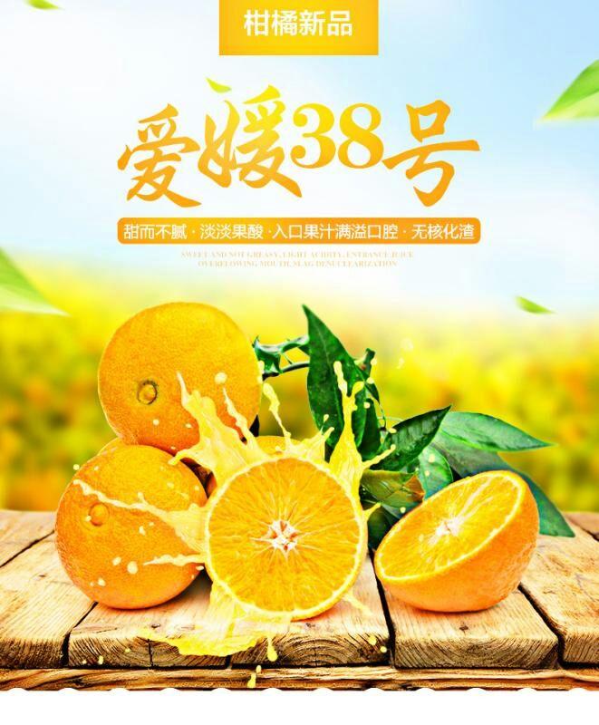 纯甜皮薄多汁的爱媛38号将于10月中旬上市诚招代理商和支持一件代发
