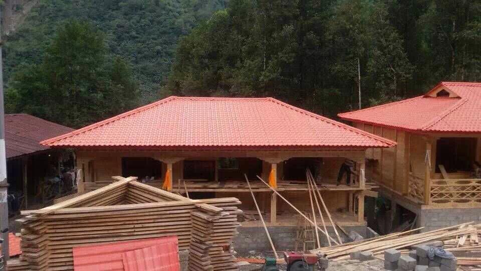 树脂瓦仿古屋顶瓦 旅游景区环保装饰瓦 艾思森朗塑料建材