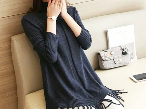 【厂家】价位合理的韩版修身毛织连衣裙批发 阳江修身毛织连衣裙厂家