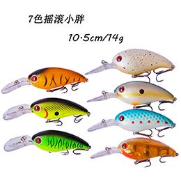 7色硬饵摇滚小胖子10.5cm14g 翘嘴路亚饵假饵