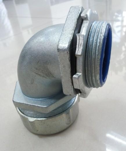金属软管接头锌合金90度弯头G螺纹接头