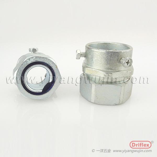 钢管接头锌合金卡套式接头带螺丝接头