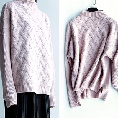 秋季新款时尚流行女装简约百搭宽松女士针织套衫KT2685