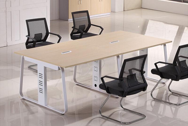 广西南宁办公桌现代办公家具金属桌架新款商务洽谈会议桌脚现货