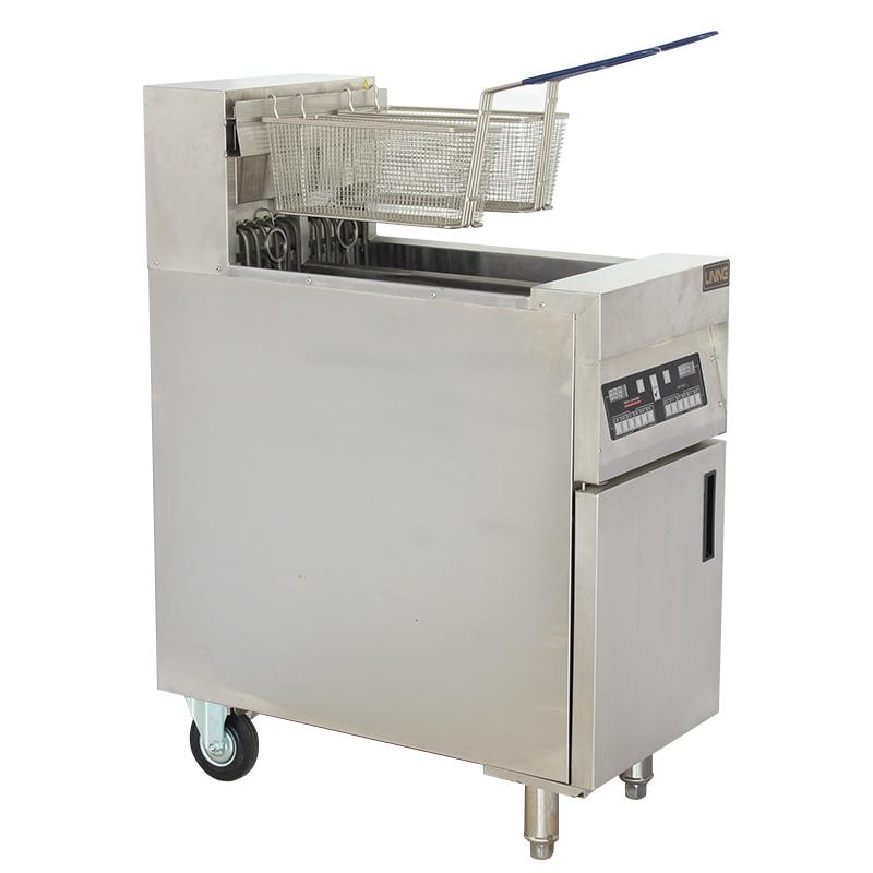 电脑版双槽商用炸机双缸智能炸锅汉堡店油炸设备