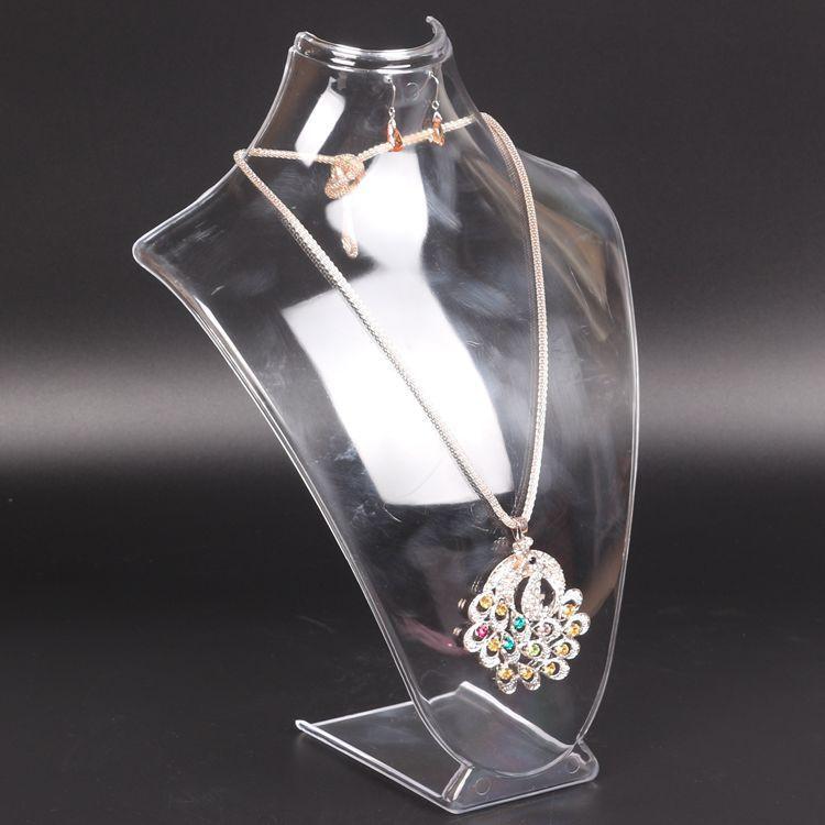 亚克力颈模人像架亚克力珠宝展示架定制