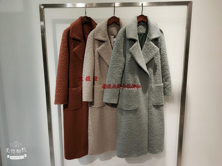 杭州女装折扣批发羊驼毛大衣代销品牌服装厂家直供一手货源