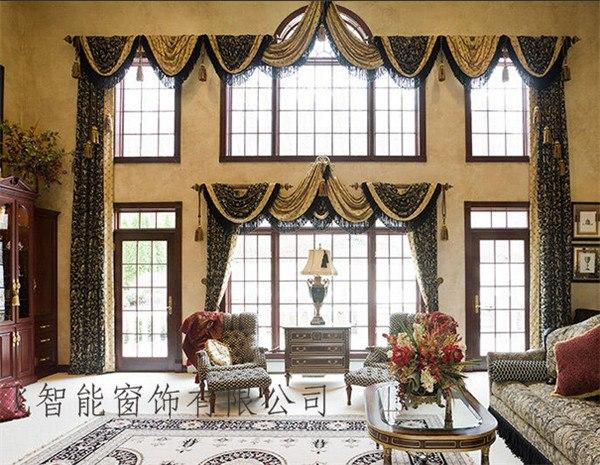 哪里有卖做工优良的别墅布艺窗帘北京别墅布艺