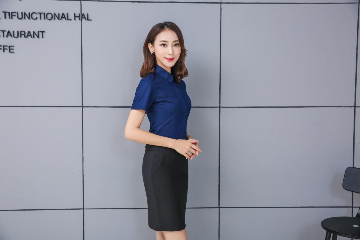 2017凯慕琪全新爆款短袖女衬衫