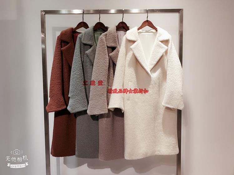 杭州品牌女装库存批发冬季羊绒大衣特价女装超低价格批发