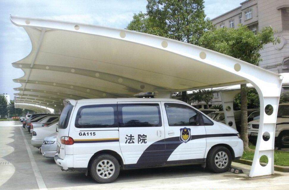 阳原膜结构汽车棚88七字型停车棚13075783666