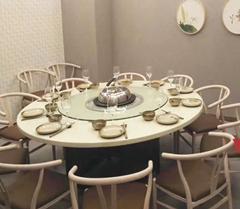 天津电磁炉火锅桌 煤气灶火锅桌 无烟火锅桌定做
