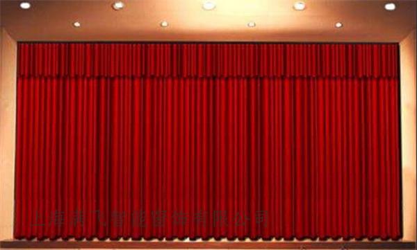 爆款电动舞台幕布供应商上海满飞智能窗饰厂家批发电动舞台幕布