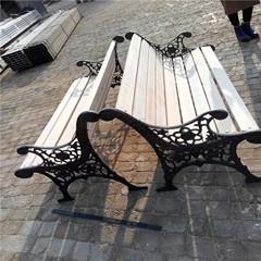 石家庄公园椅户外休闲椅防腐木靠背椅长椅塑木平凳长椅