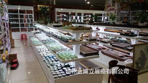 购买茶具展示柜首要选择杭州金博立展柜公司绍兴茶具展示柜