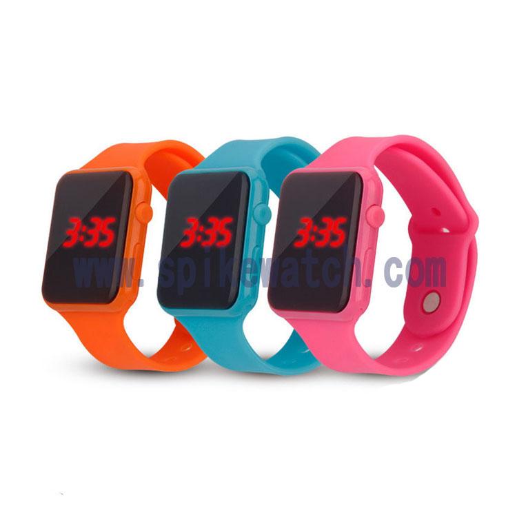 优质手表厂家直销休闲简约苹果方形LED电子手表