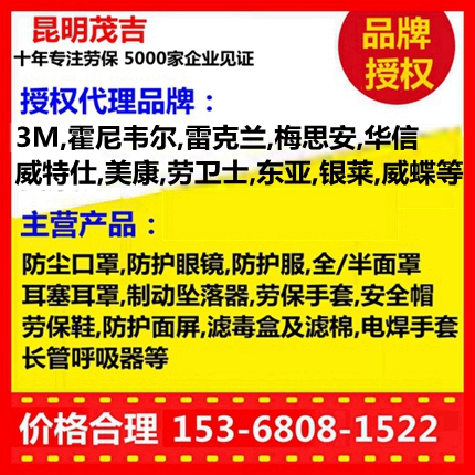 云南�t河�诒T��b品代理商3M�p�V盒全面罩