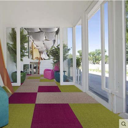 郑州fk004方块地毯厂家 写字楼办公区方块毯 办公区域拼接方块毯价格