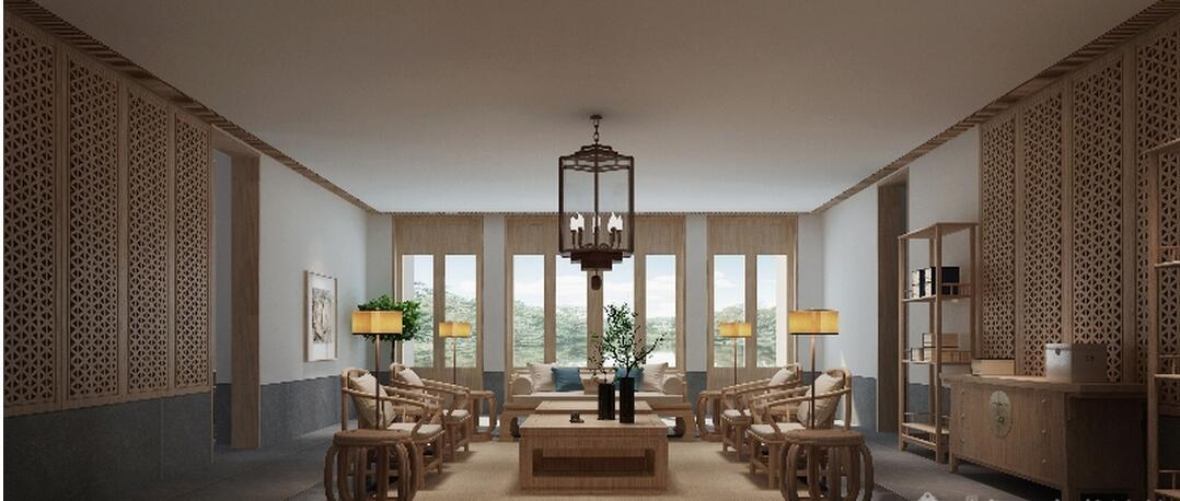 重庆新中式酒店家具,新中式禅意家具,新中式国学堂中医馆家具定制