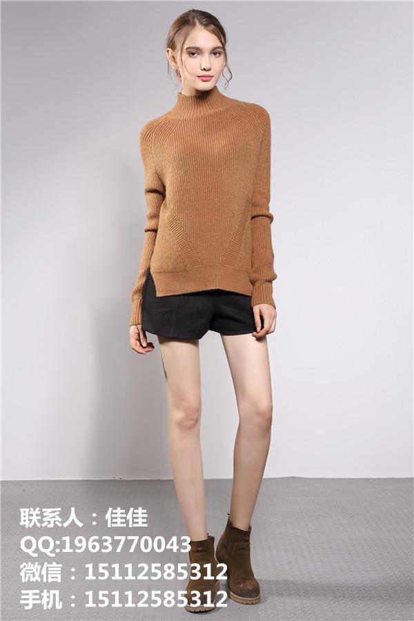 深圳女式立领开身毛衣 优雅女装