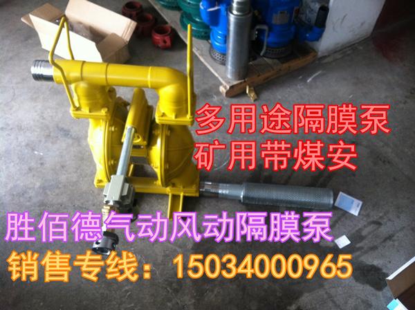 青海果洛制造商胜佰德BQG2750.2风动隔膜泵bqg6000.2