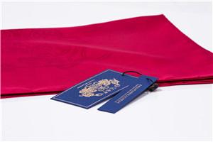 提花素色方巾(玫红)汪永亨丝绸
