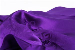 提花素色方巾(紫罗兰)汪永亨丝绸