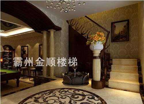 酒店会所楼梯_连云港酒店会所楼梯厂家【金顺】