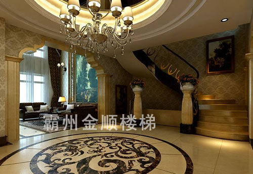酒店会所楼梯品质保证_淮安酒店会所楼梯生产厂家【金顺】