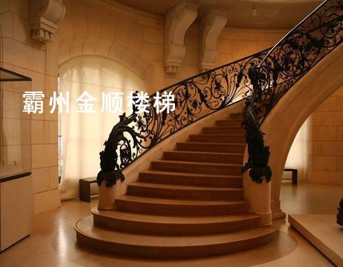 酒店会所楼梯_泰州酒店会所楼梯厂家【金顺】