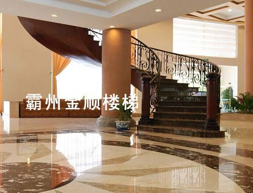 酒店会所楼梯定制_浙江酒店会所楼梯厂家定做【金顺】