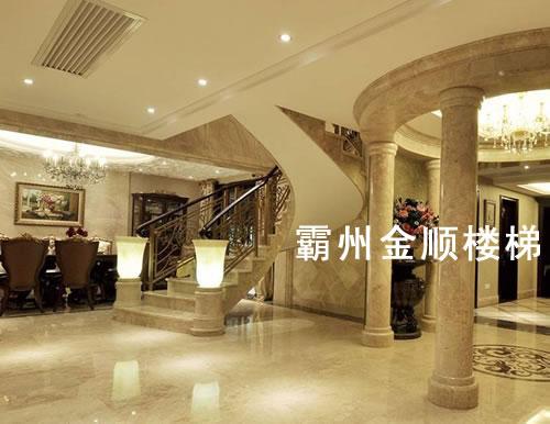 酒店会所楼梯订制_杭州酒店会所楼梯定制各种款式【金顺】