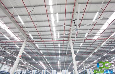 玉林仓储物流降温设备大型吊扇电机德国诺德专属定制