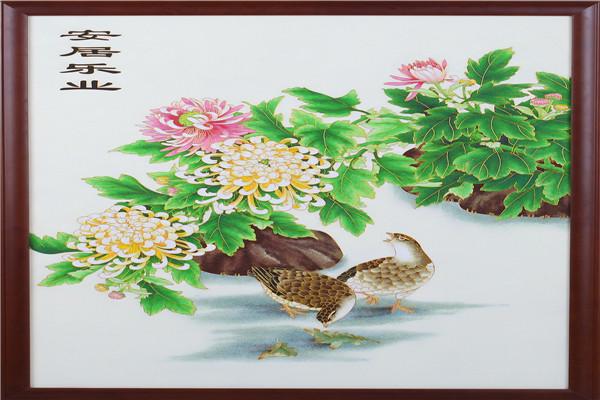 哪里有出售掐丝珐琅画|广东艺术装饰画定制