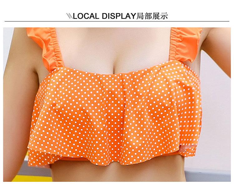 保守平角吊带可爱性感分体裙式女士保守小清新泳衣比基尼