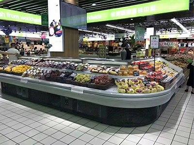 选购分体环岛半高水果立柜就到恒太制冷 水果冷柜厂家