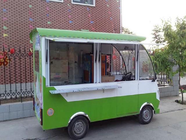冰淇淋车专业供应商_四轮电动美食车