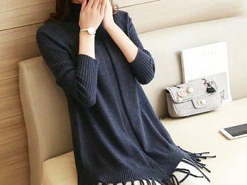 禅城毛织连衣裙由大众具有口碑的韩版气质毛织连衣裙