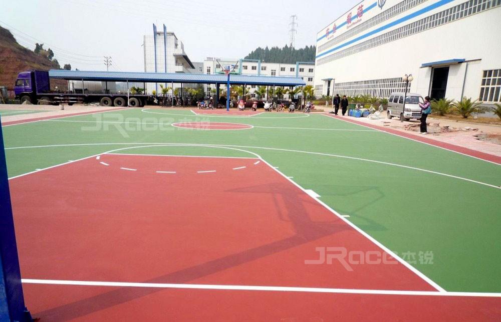 排球场使用绿草地硅PU材料的好处