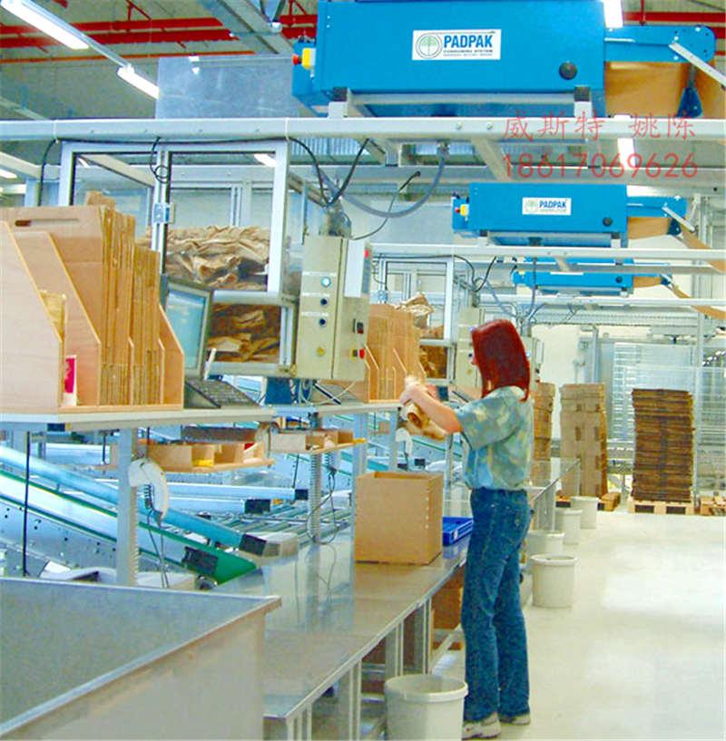 广东惠州龙门威斯特牛皮纸垫环保纸垫机设备规格