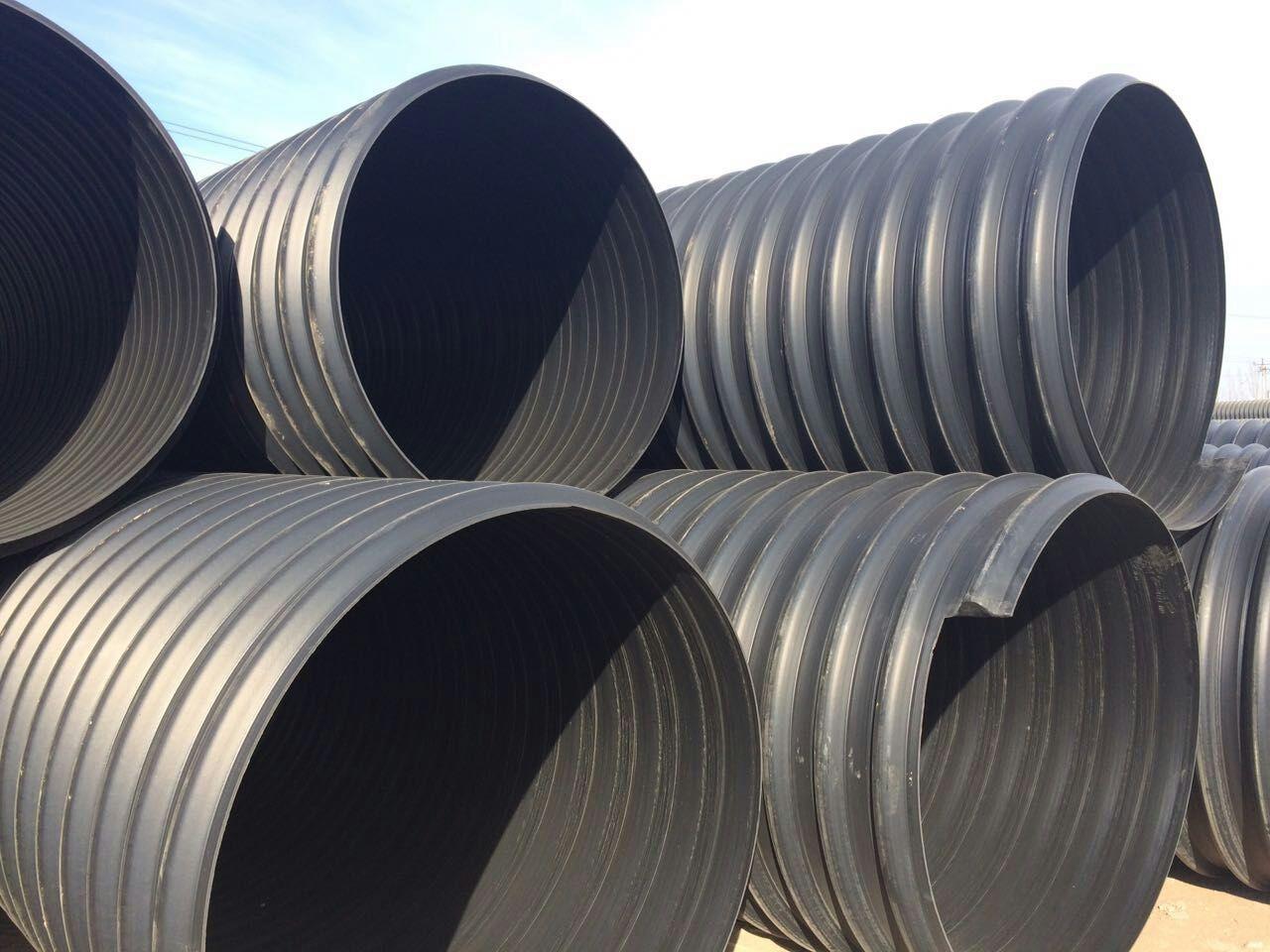 锡林浩特市钢带波纹排水管施工图